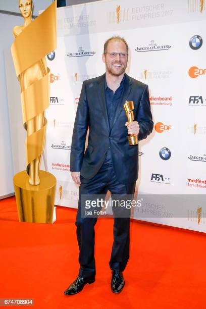 Award winner Martin Richter for best kids film at the Lola - German Film Award winners board at Messe Berlin on April 28, 2017 in Berlin, Germany.