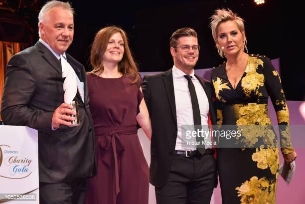 Award winner Michael Bertsch Jennifer Fuchsberger Julien Fuchsberger and Inka Bause attend the 8th Diabetes Charity Gala at Tipi am Kanzleramt on...