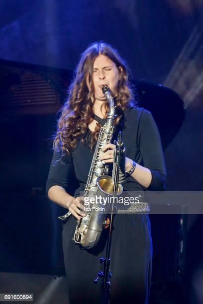Award winner new comer AnnaLena Schnabel performs during the Echo Jazz 2017 on June 1 2017 in Hamburg Germany