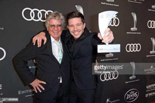 Award winner Nico Santos and his father Egon Wellenbrink during Audi Generation Award 2018 at Hotel Bayerischer Hof on December 11 2018 in Munich...
