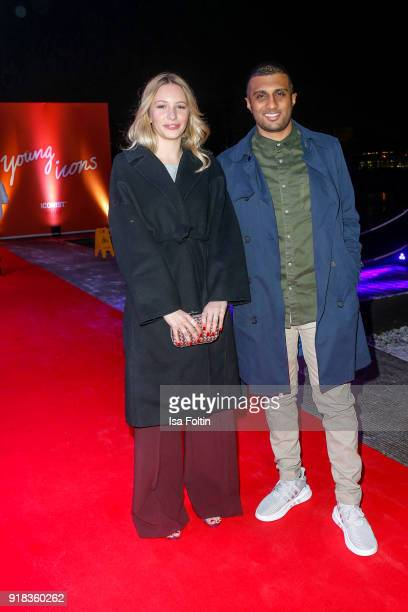 Award winner Nina Christiane Wegert and Kirishan Selvarajah attend the Young ICONs Award in cooperation with ICONIST at BRLO Brwhouse on February 14...