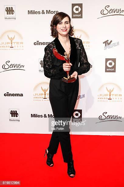Award winner Nora Tschirner and smart attend the Jupiter Award 2016 on April 06 2016 in Berlin Germany