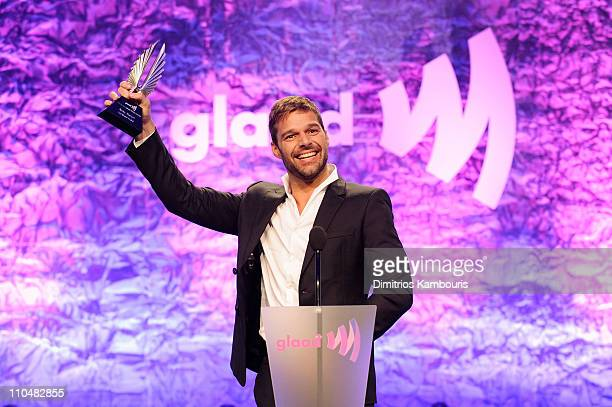 Award winner Ricky Martin speaks onstage at the 22nd Annual GLAAD Media Awards presented by ROKK Vodka at Marriott Marquis Times Square on March 19,...