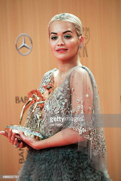 Award winner Rita Ora attends the Kryolan At Bambi Awards 2015 Red Carpet Arrivals on November 12 2015 in Berlin Germany