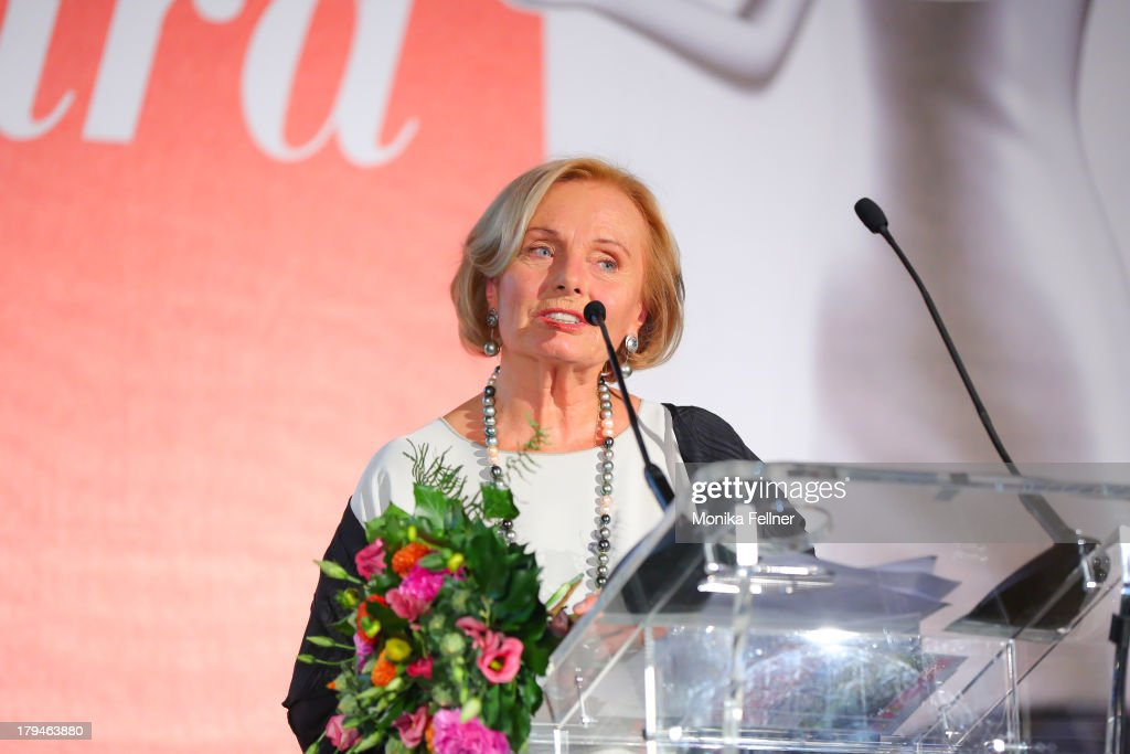 Award winner Ruth Maria Kubitschek speaks during the Leading Ladies Awards 2013 at Belvedere Palace on September 3, 2013 in Vienna, Austria.