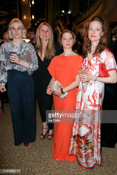 Award winner Sabine Greunig with her daughter Annie Greunig German actress Anjorka Strechel and German actress Anne RattePolle attend the Lola German...