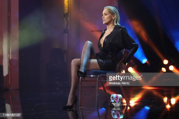 Award winner Sharon Stone speaks on stage during the GQ Men of the Year Award show at Komische Oper on November 07 2019 in Berlin Germany