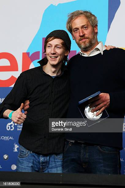 Award winner Stefan Kriekhaus with his award at the Award Winners Press Conference during the 63rd Berlinale International Film Festival at Grand...
