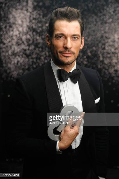 "Award winner ""Style Icon"" David Gandy poses backstage at the GQ Men of the year Award 2017 at Komische Oper on November 9, 2017 in Berlin, Germany."