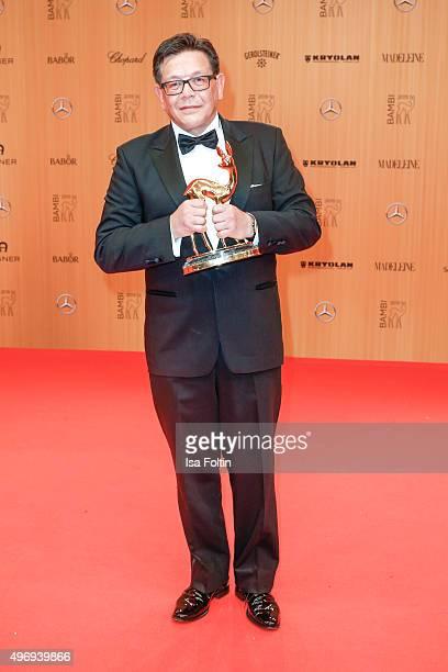 Award winner Thomas Jansen attend the Kryolan At Bambi Awards 2015 Red Carpet Arrivals on November 12 2015 in Berlin Germany