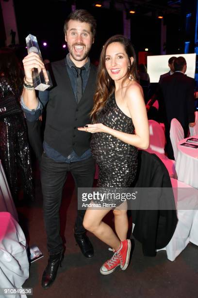 Award winner Thore Schoelermann and Johanna Klum attends the German Television Award at Palladium on January 26 2018 in Cologne Germany
