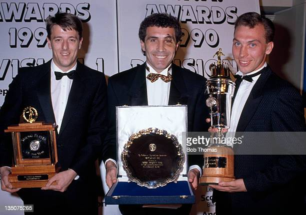 Award winners at the PFA reception in London on 1st April 1990 Left to right Matthew Le Tissier of Southampton Peter Shilton of Derby County and...