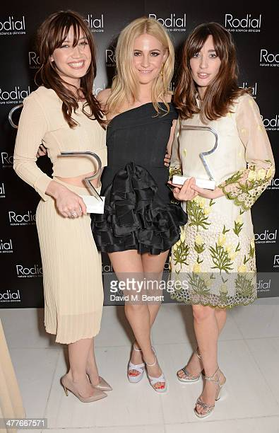 Award winners Daisy Lowe Pixie Lott and Laura Jackson attend the 5th annual Rodial Beautiful Awards to celebrate women of style beauty and elegance...