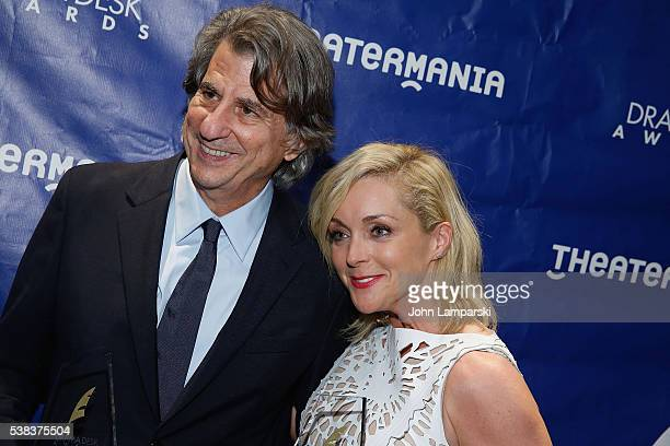 Award winners David Rockwell and Jane Krakowski attend 2016 Drama Desk Awards press room at Marriott Marquis Times Square on June 5 2016 in New York...