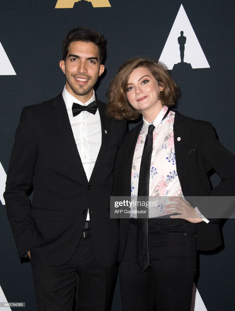 Award Winners Esteban Bravo (L) and Beth David attend the 44th Students Academy Awards at the Academy of Motion Picture Arts and Sciences, on October 12, 2017, in Beverly Hills California. /