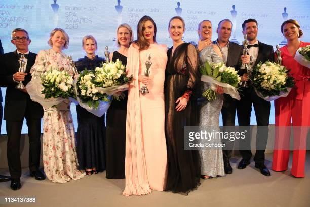 Award winners HansPeter Veit Maren SpeckmannMunz and Nicoline Woehrle Kerstin Unger beauty idol Miranda Kerr Editorinchief Gala Anne MeyerMinnemann...