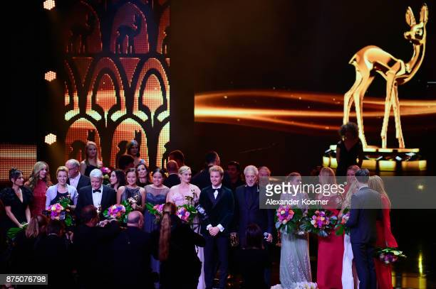 Award Winners on stage during the Bambi Awards 2017 show at Stage Theater on November 16 2017 in Berlin Germany