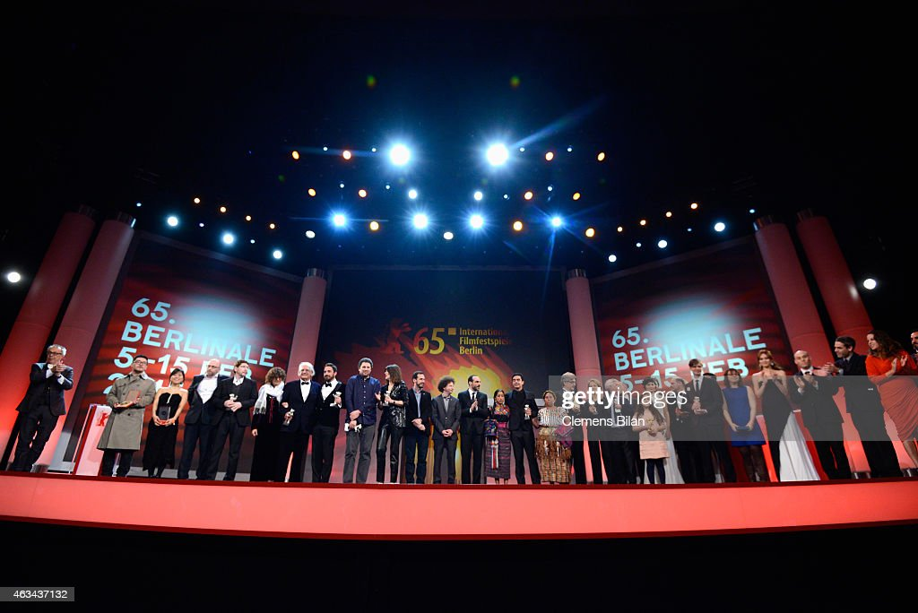 Award winners on stage during the Closing Ceremony of the 65th Berlinale International Film Festival at Berlinale Palace on February 14, 2015 in Berlin, Germany.