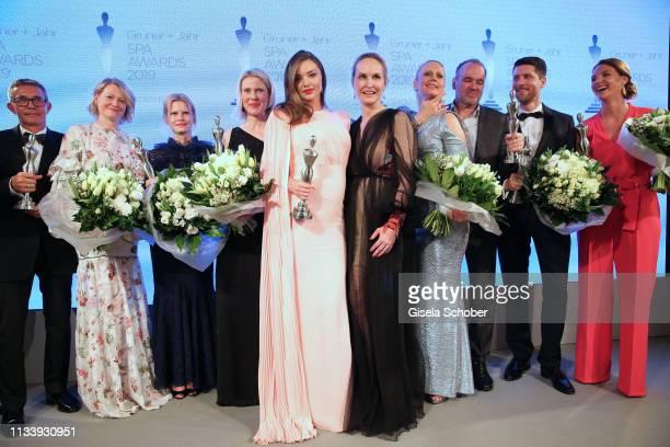 Award winners Thomas Kochs HansPeter Veit Maren SpeckmannMunz and Nicoline Woehrle Kerstin Unger beauty idol Miranda Kerr Editorinchief Gala Anne...