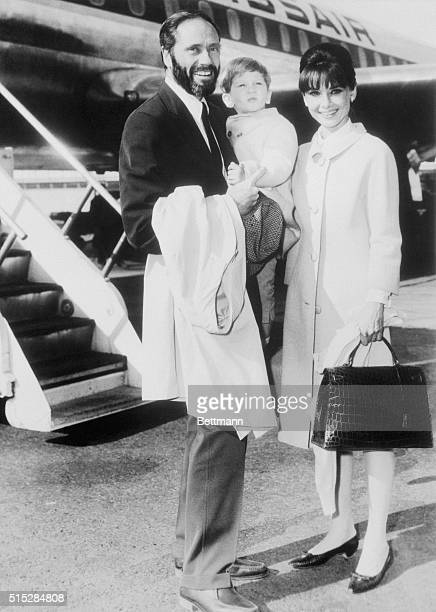 Award winning actress Audrey Hepburn arrives at the New York International Airport here, with her husband actor Mel Ferrer, and their son Sean....