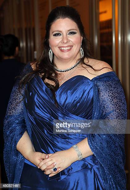 Award winning American operatic soprano Angela Meade attends Richard Tucker Music Foundation's 38th annual gala at Avery Fisher Hall Lincoln Center...