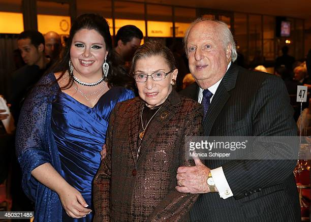 Award winning American operatic soprano Angela Meade Honorable Ruth Bader Ginsburg Associate Justice of Supreme Court of the United States and Barry...
