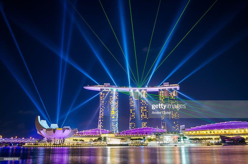 marina bay sand lighting show time marina bay sands laser light