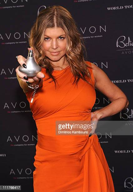 Award winning singer Fergie celebrates AVON's 125th Celebration at the Believe World Tour at Madison Square Garden on April 6 2011 in New York City...