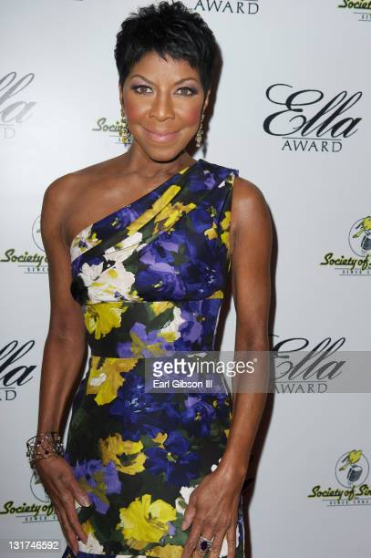 Award winning singer Natalie Cole appears on the Red Carpet for the annual Ella Award hosted by The Society of Singers at The Beverly Hilton hotel on...