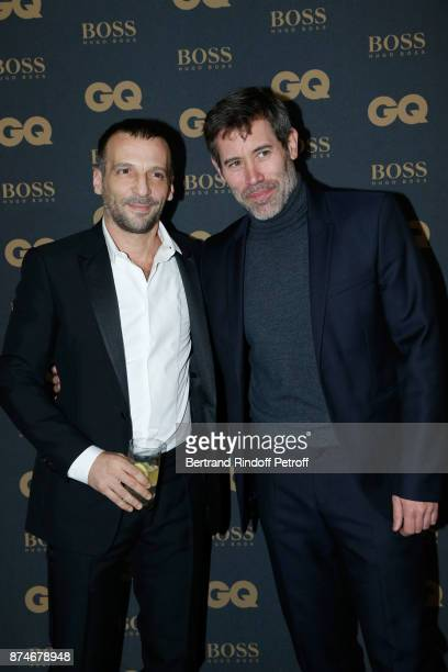 Awarded as Actor of the year Mathieu Kassovitz and Jalil Lespert attend the GQ Men of the Year Awards 2017 at Le Trianon on November 15 2017 in Paris...