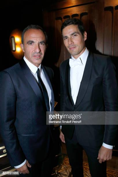 Awarded as Animator of the year Nikos Aliagas and Awarded as Media Man of the year Mathieu Gallet attend the GQ Men of the Year Awards 2017 at Le...