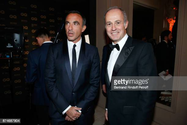 Awarded as Animator of the year Nikos Aliagas and CEO of Condenast France Xavier Romatet attend the GQ Men of the Year Awards 2017 at Le Trianon on...