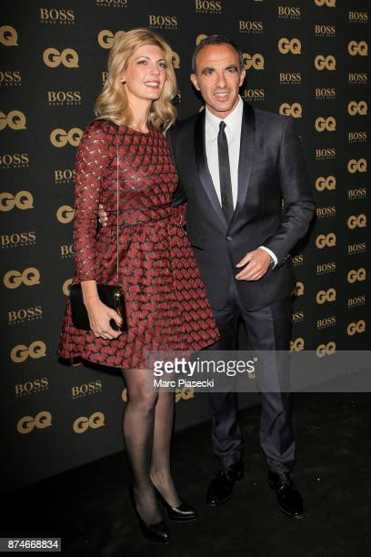 Awarded as Animator of the year Nikos Aliagas and his companion Tina Grigoriou attend the 'GQ Men of the year awards 2017' at Le Trianon on November...