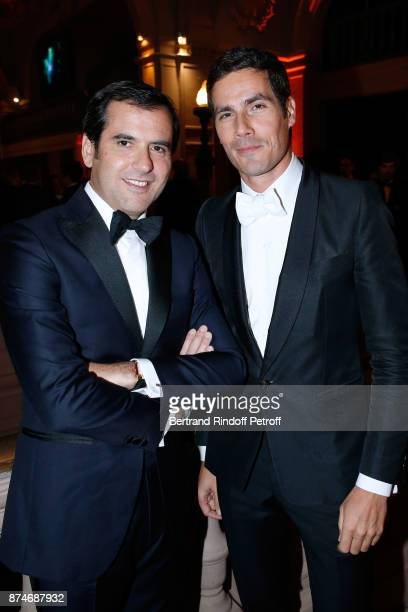 Awarded as Businessman of the year Nicolas Houze and Awarded as Media Man of the year Mathieu Gallet attend the GQ Men of the Year Awards 2017 at Le...