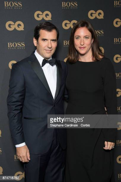 Awarded as Businessman of the year Nicolas Houze and his wife AnneCharlotte attend the GQ Men Of The Year Awards 2017 at Le Trianon on November 15...