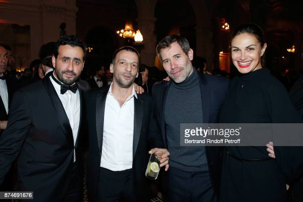 Awarded as Funniest Man of the year Jonathan Cohen Awarded as Actor of the year Mathieu Kassovitz Jalil Lespert and Helena Noguerra attend the GQ Men...