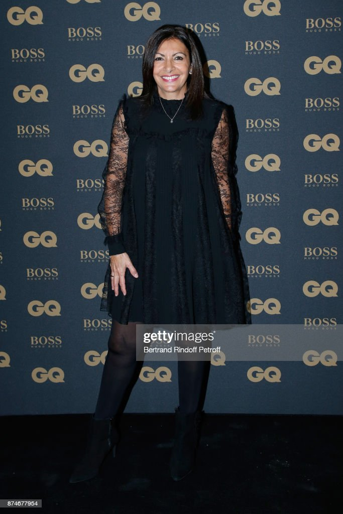Awarded as Political Womman of the year, Mayor of Paris Anne Hidalgo attends the GQ Men of the Year Awards 2017 at Le Trianon on November 15, 2017 in Paris, France.