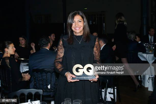 Awarded as Political Womman of the year Mayor of Paris Anne Hidalgo attends the GQ Men of the Year Awards 2017 at Le Trianon on November 15 2017 in...