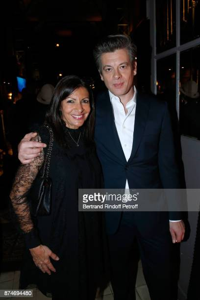 Awarded as Political Womman of the year Mayor of Paris Anne Hidalgo and Awarded as 'Male Singer' of the year Benjamin Biolay attend the GQ Men of the...