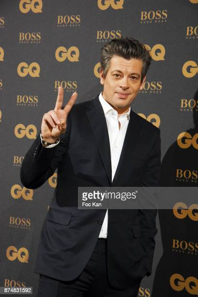 GQ 2017 awarder singer Benjamin Biolay attends the Les GQ Men Of The Year Awards 2017 Photocall at Trianon on November 15 2017 in Paris France