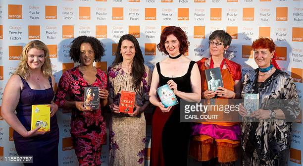 Awardnominated authors from left Tea Obreht with her book The Tiger's Wife Aminatta Forna with The Memory of Love Nicole Krauss with Great House Emma...