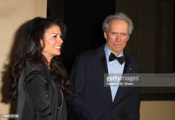 Awards CoChair Clint Eastwood and wife Dina Eastwood arrive at the 63rd Annual Directors Guild Of America Awards held at the Grand Ballroom at...