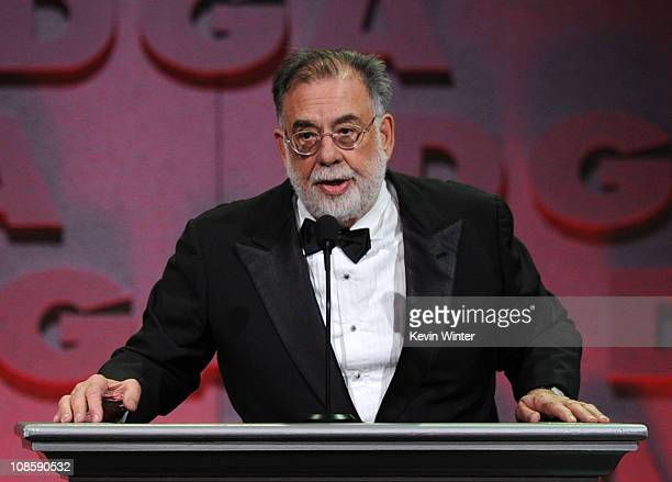 Awards CoChair Francis Ford Coppola onstage at the 63rd Annual Directors Guild Of America Awards held at the Grand Ballroom at Hollywood Highland on...