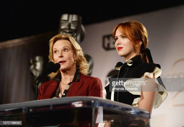 Awards Committee Chair and SAGAFTRA Foundation President JoBeth Williams and SAG Awards Committee Member Elizabeth McLaughlin attend the 25th Annual...
