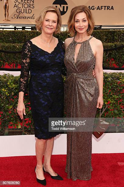 Awards Committee Chair and SAGAFTRA Foundation President JoBeth Williams and SAGAFTRA Foundation board member and actress Sharon Lawrence attend the...