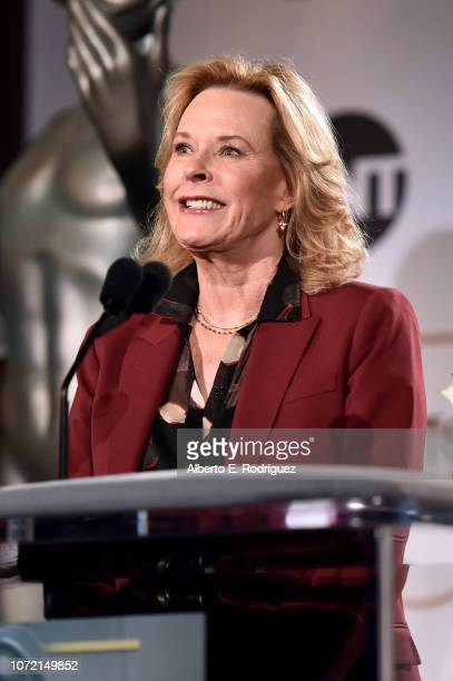 Awards Committee Chair JoBeth Williams speaks onstage during the 25th Annual Screen Actors Guild Awards Nominations Announcement at Pacific Design...