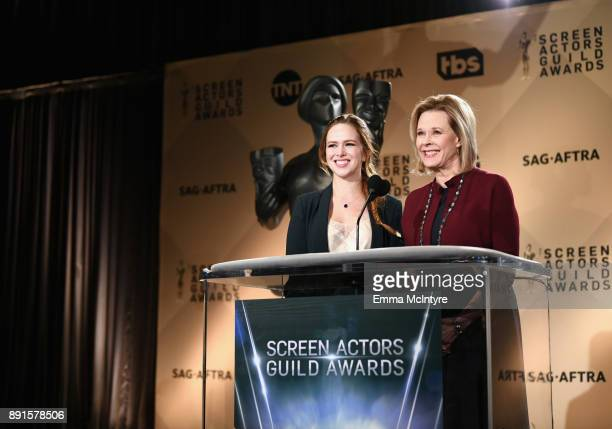 Awards Committee Member Elizabeth McLaughlin and SAG Awards Committee Chair SAFAFTRA Foundation President JoBeth Williams speak at the 24th Annual...