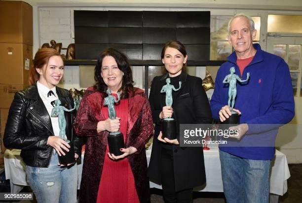 SAG Awards Committee Member Elizabeth McLaughlin SAG Awards Nominee Ann Dowd SAG Awards Nominee Clea DuVall and SAG Awards Committee Vice Chair Daryl...