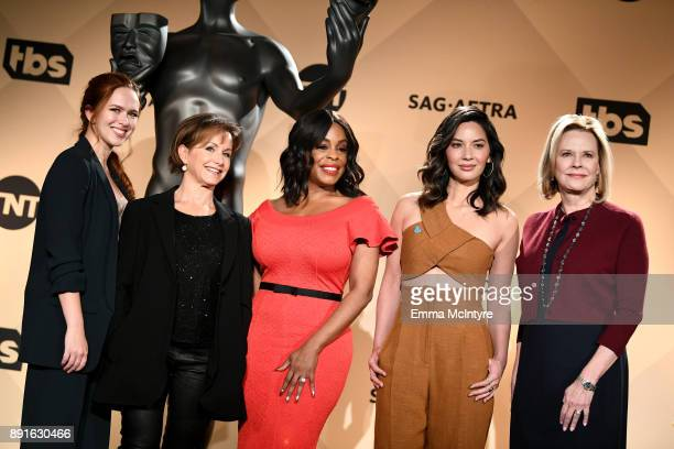 SAG Awards Committee Member Elizabeth McLaughlin SAGAFTRA President Gabrielle Carteris actors Niecy Nash Olivia Munn and SAG Awards Committee Chair...