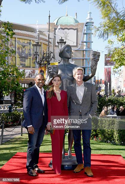 SAG Awards Committee Member Jason George SAG Award Nominees Angela Sarafyan and Matthew Modine attend The 23rd Annual Screen Actors Guild Awards...